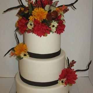 Fall wedding - Cake by DoobieAlexander
