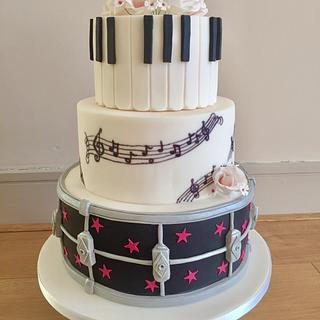 Musicians Wedding Cake