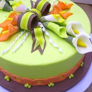 Cala Lili Fondant Cake