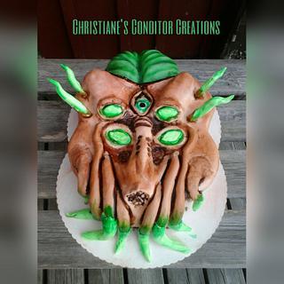 3d alien cake