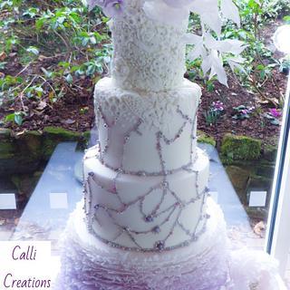 Lilac Romance - Wedding Cake - Cake by Calli Creations