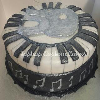 Jazz piano cake