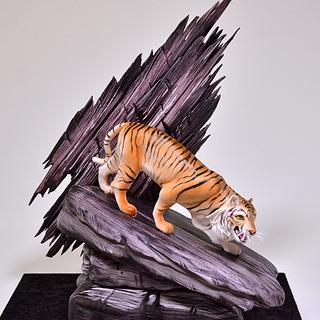 Tiger on a Rock Cake