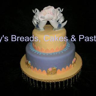 Indian styled wedding cake - Cake by Bernice