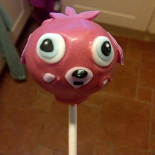 Moshi monster cake pop!
