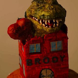 Icing Smiles Godzilla Cake