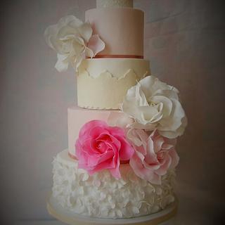 pink fairytale wedding cake