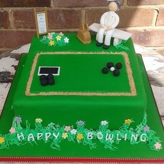 90th bowling birthday cake