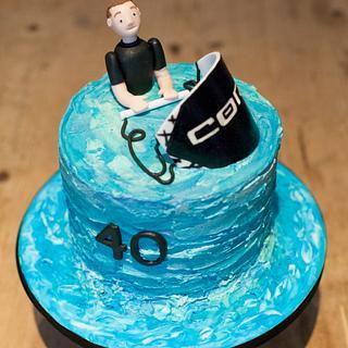 Kitesurfing birthday cake