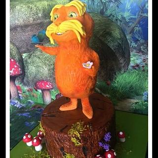 "Dr Seuss cake collaboration ""The Lorax"""