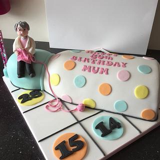 Bingo dabber cake