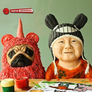 Pinky Pug & Little Totoro