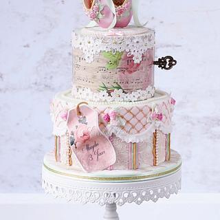 Vintage ballet cake