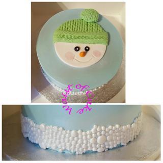Snowman and snowballs
