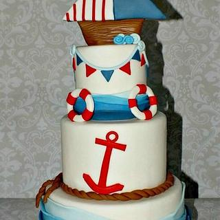 Ahoy Baby Shower Cake!