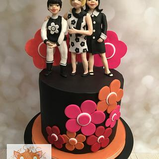 Couture Cakers International - Mary Quant inspired cake