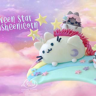 Little Pween Stars & Super Pusheenicorn Cake Topper - Cake by Sugar Snake Cake
