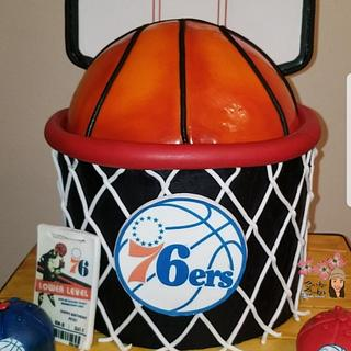Sixers Surprise Cake