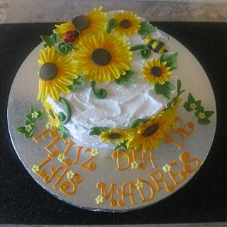 Sunflower mother's day cake