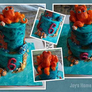 Cake with Nemo, Dory and Hank