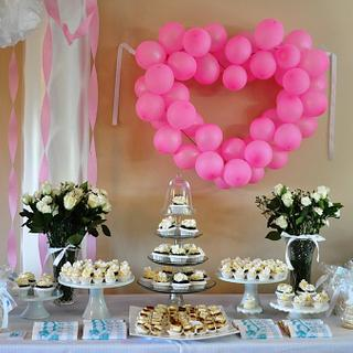 Simple Sweets Table for a Bride-to-be