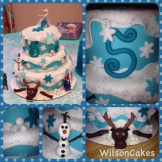 Disney Frozen tiered cake
