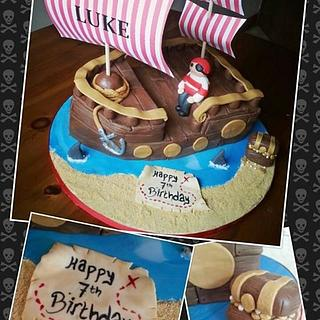 Pirate Ship - Cake by Tracey