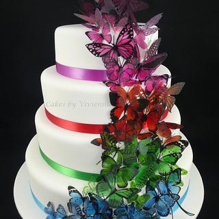 Butterfly Wedding Cake - Cake by Cakes by Vivienne