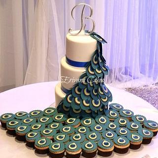 Peacock Wedding Cake - Cake by erivana