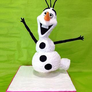 Gravity defying cake Olaf