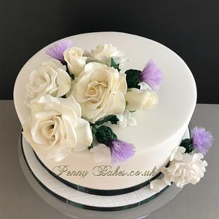 Ferguson clan wedding cake!  - Cake by Penny Sue