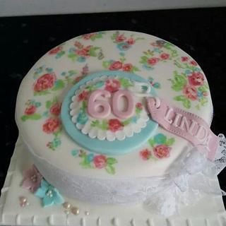 Handpainted vintage cake