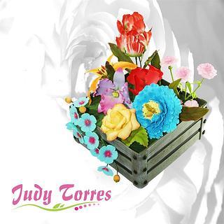 JARDÍN PRIMAVERAL - Cake by JUDY ESPERANZA TORRES BERNAL