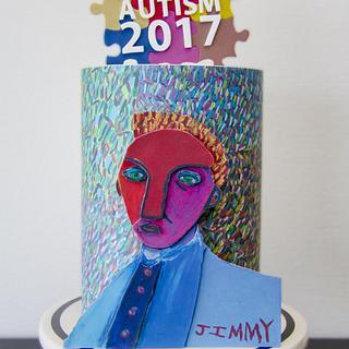 MAN WITH SAD FACE - Sugar Art 4 Autism 2017