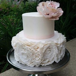 Ruffled wedding cake - Cake by Patty's Cake Designs