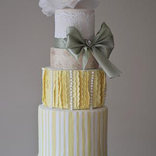 Buttercups and Sage - Cake by Rebekah Naomi Cake Design