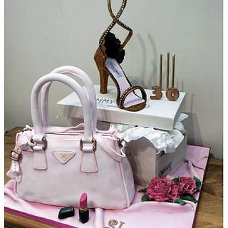 Bag and Shoe Cake - Cake by Mother and Me Creative Cakes