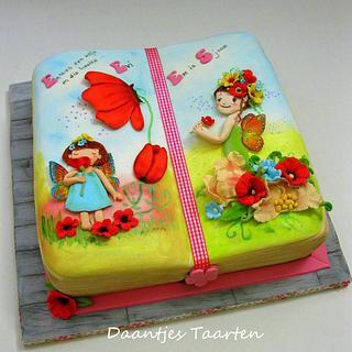 Fairy book cake