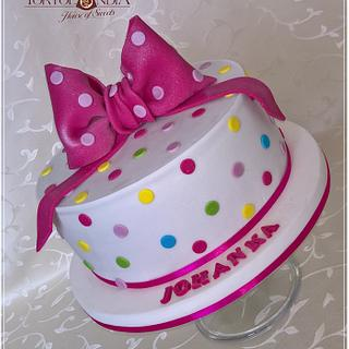 Sweet bow and dots