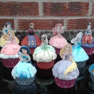 Disney Princess cupcakes
