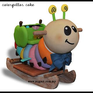 Caterpillar Rocker Cake