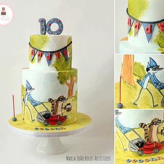 Regular Show Cake
