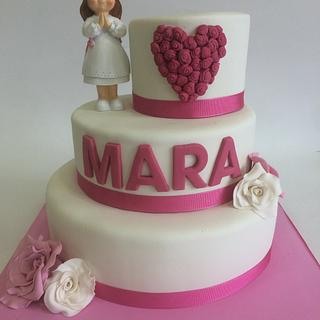 First comunion cake for a girl