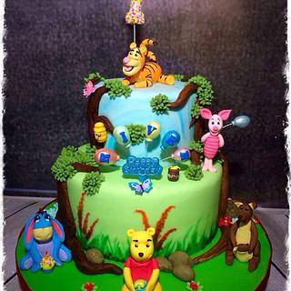 Hundred Acre Wood - Cake by Nanna Lyn Cakes