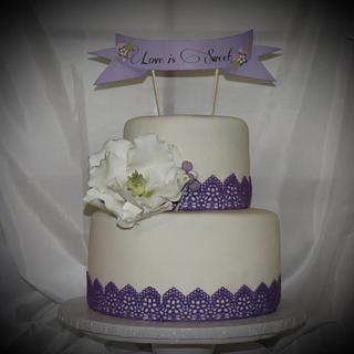 Bridal Shower Cake - Cake by Vilma