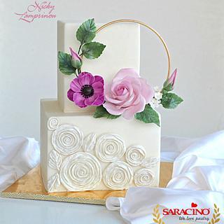 Stylish square cake