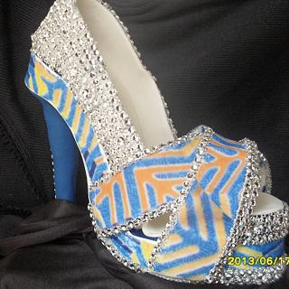 Handcrafted bling shoe
