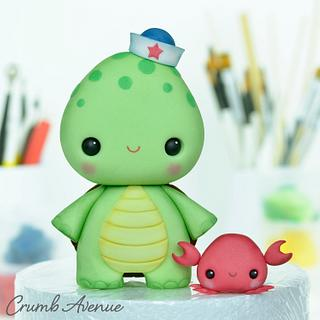 Turtle Cake Topper :) - Cake by Crumb Avenue
