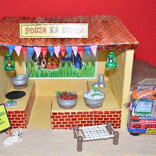 IndiFoodCollaboration-Punjabi Rajma Chawal - Cake by PoojasDesignerCakes