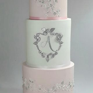 Elegant cake for Alina